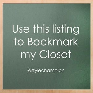 Like this for an easy way to bookmark my closet!